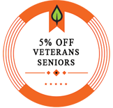 5% Off Seniors and Veterans